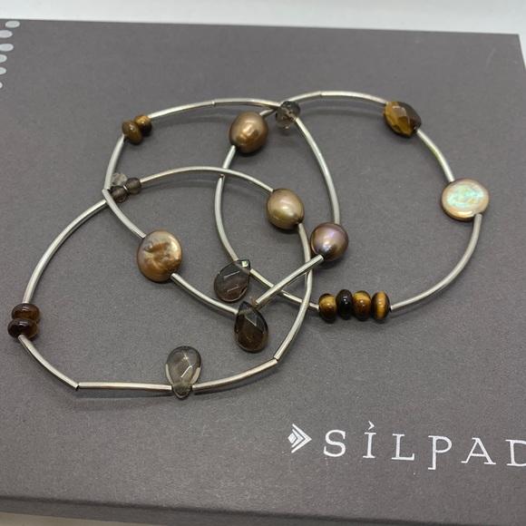 Silpada Sterling Silver Stretch Bracelets